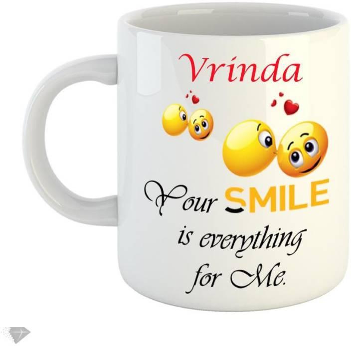 Reindeer Your smile is everything for me Vrinda 350ml white ceramic mug Ceramic Mug