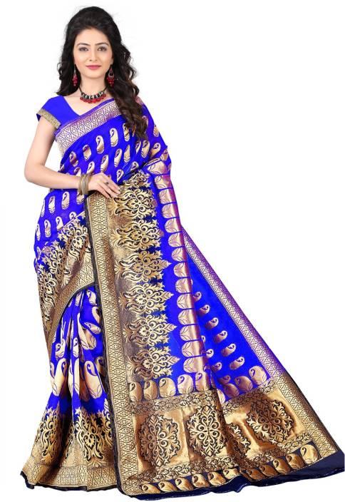 Jay Fashion Solid Kanjivaram Silk Saree