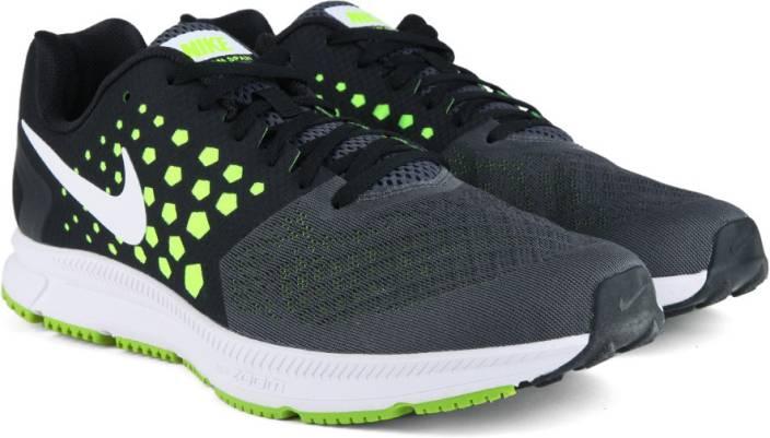 Nike AIR ZOOM SPAN Running Shoes For Men - Buy BLACK WHITE-VOLT-DARK ... c18daf04a