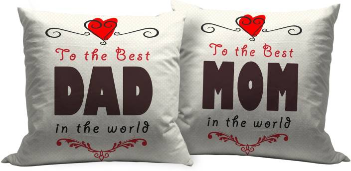 Tiedribbons Wedding Anniversary Gift For Mother Father Cushion Gift