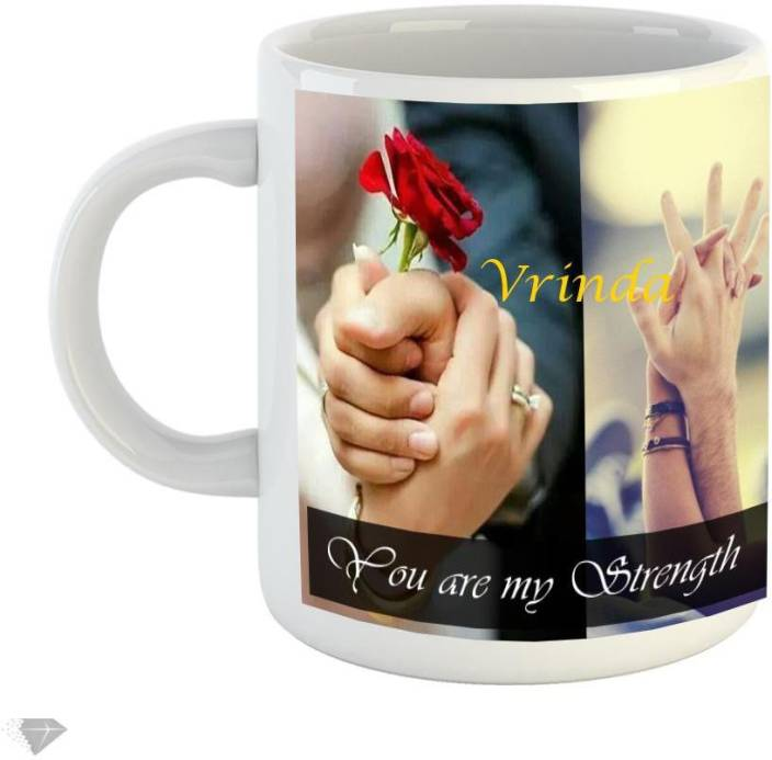 Reindeer You are my strength Vrinda 350ml white ceramic Ceramic Mug