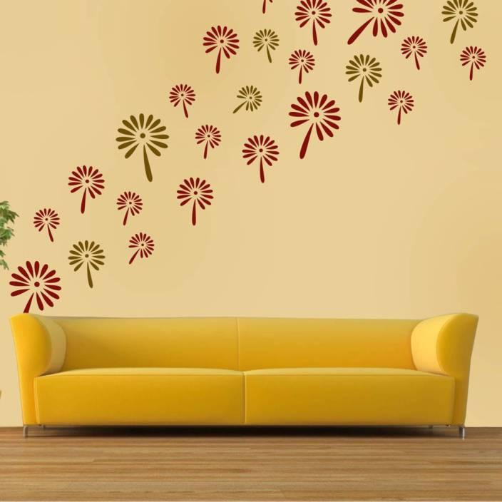 Arhat Stencils FLORAL ASR-E168 GLOSSY PVC (Wall Décor & Art) Stencil ...
