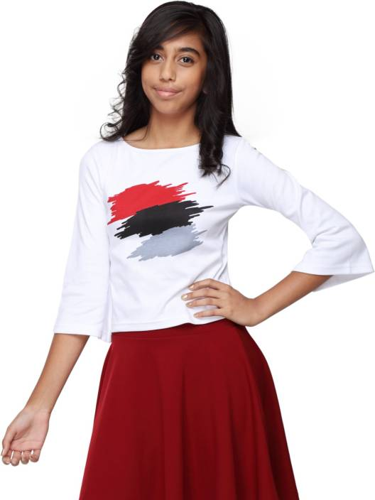 4ca826975917f GENZEE Girls Casual Polyester Cotton Blend Crop Top Price in India ...