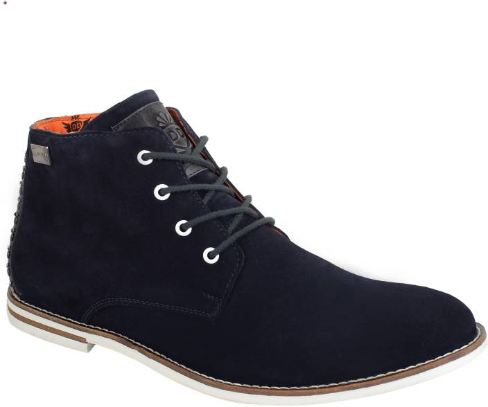 f6ec9a224977 DELHI DERBY Zidane Dark Navy Men s Casual Boots For Men - Buy DELHI ...