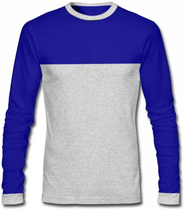 GHPC Solid Men s Round Neck Blue T Shirt Buy Royal Blue