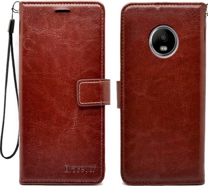 new product d4303 fb852 Bracevor Flip Cover for Motorola Moto G5 Plus