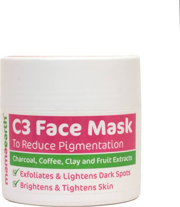 Mamaearth Charcoal, Coffee & Clay Face Mask to Reduce Pigmentation & Skin Lightning
