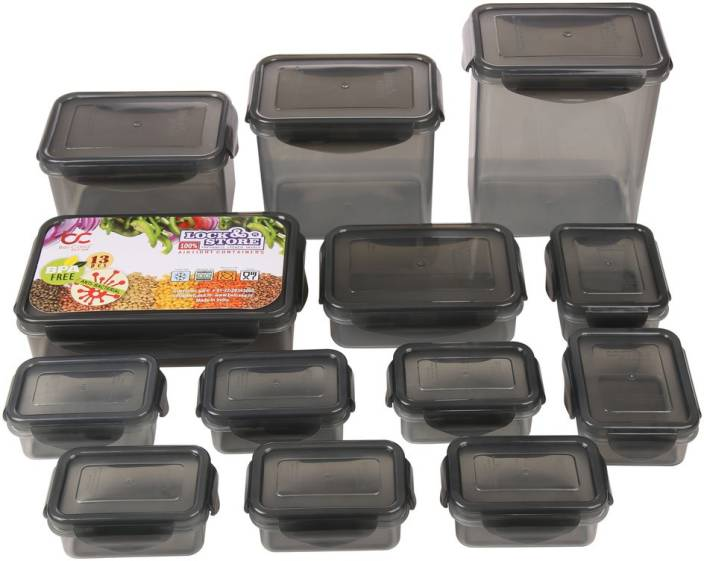 Bel Casa Lock & Store With Leak Proof Locking Lid Square  - 750 ml, 1000 ml, 1500 ml, 125 ml, 150 ml, 360 ml, 800 ml Polypropylene Grocery Container