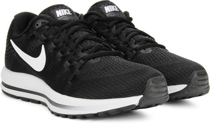 f7d51faea21d Nike AIR ZOOM VOMERO 12 Running Shoes For Men - Buy BLACK WHITE ...