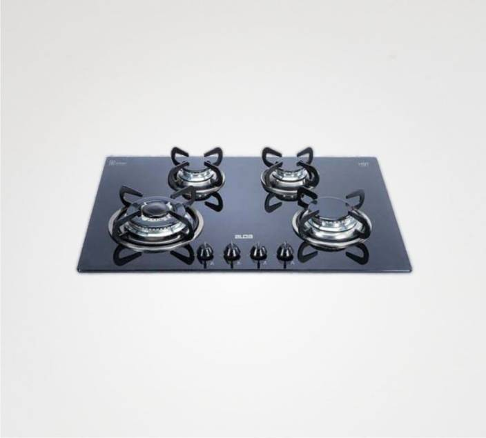 Glen Alda Kitchen Built In Hob BHA 174 TR GLS Glass Cooktop - Auto Ignition, Italian Gas Valves Glass Automatic Gas Stove