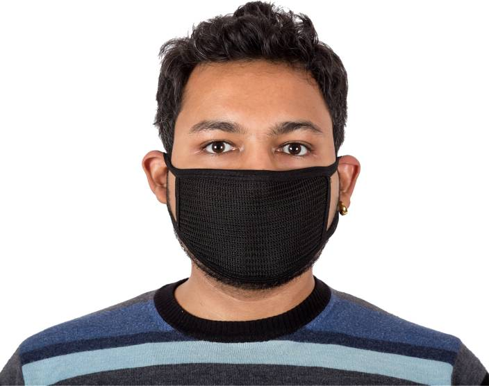 Autofy Black Net Print Anti Pollution and Anti Dust Disposable Particulate Mask