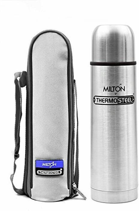 79ff90e08d Milton Flip lid 500ml hot and cold thermosteel bottle (24 hour cooling and  warming capacity) 500 ml Flask (Pack of 1, Silver)