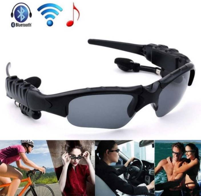 bfaf7c735620 Wonder World ™ Motorcycle Bluetooth Sunglasses Sun Glasses Music Headsets  Headphones Bluetooth Headset with Mic (Black, In the Ear)