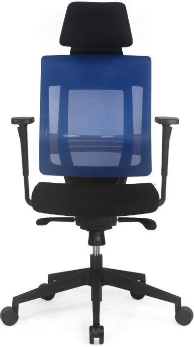 Nilkamal Pinnacle High Mesh Back Fabric Office Arm Chair Price In