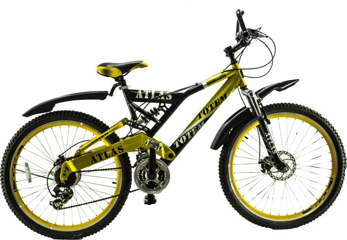 3614ad9e9c8 Atlas Tottem 26 Inches 21 Speed Black & Yellow 26 T Mountain Cycle (21  Gear, Multicolor)