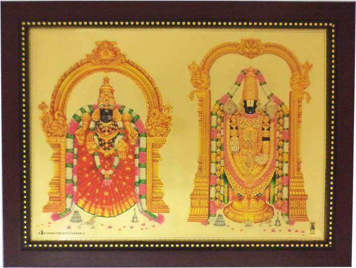 Generic Lord Balaji (34 cm x 26 cm x 1.5 cm, Red) / Wall Hangings ...