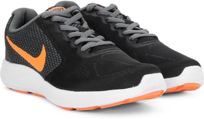 ce4be9c88e Nike REVOLUTION 3 Running Shoes For Men - Buy BLACK/TOTAL ORANGE ...