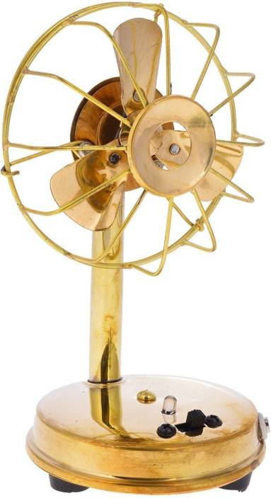 Khatushyam Metal Antique Fan handicraft for home decor working with battery and nokia standard charging point size (10 cm x 9 cm x 16.5 cm) Decorative Showpiece  -  16 cm