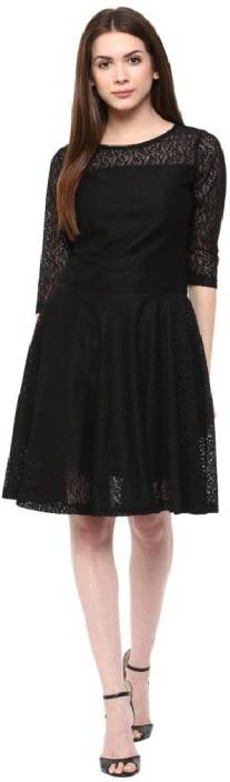 The Bebo Women's Gathered Black Dress