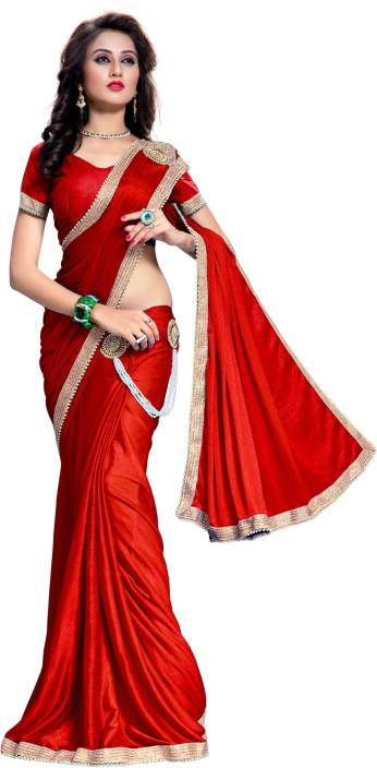 e40065f8db The Fashion Outlets Embellished, Embroidered Bollywood Lycra, Silk Saree  (Pink)