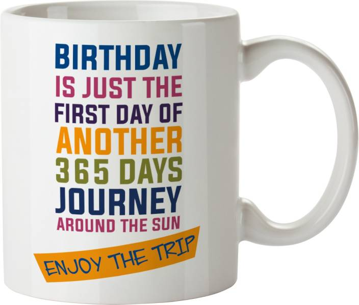 Zokasa Happy Birthday Gift For Friend Boyfriend Girlfriend Sister Brother Wife Husband Coffee Ceramic Mug 300 Ml