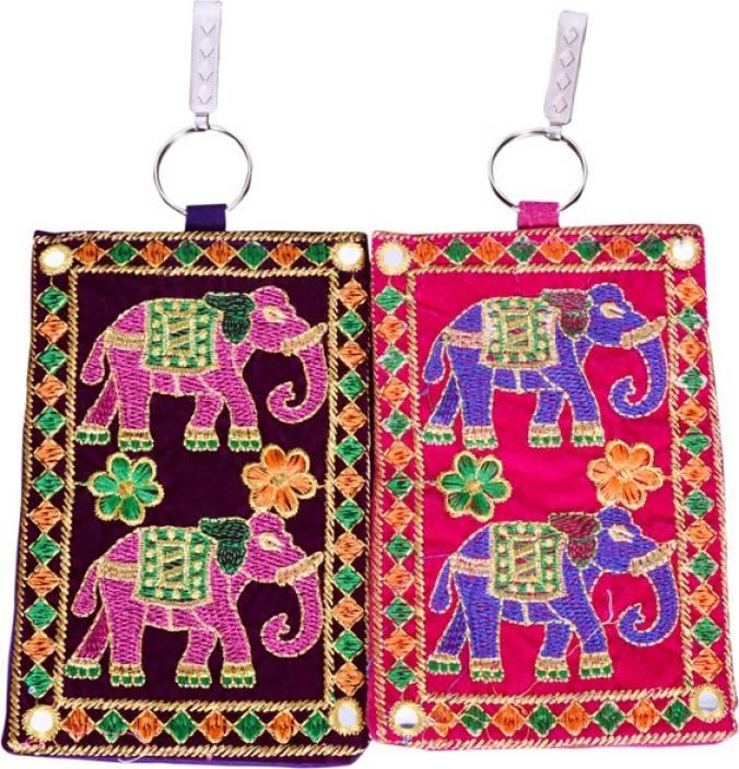 Craft Trade Craft Trade Elephant Design Mobile Pouch A Mobile