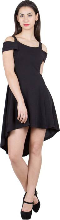 G & M Collections Women's A-line Black Dress