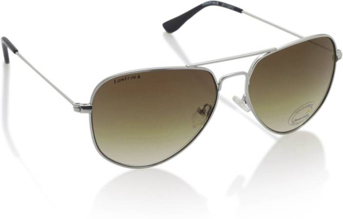 8398bbbbb8b44 Buy Fastrack Aviator Sunglasses Brown For Men Online   Best Prices ...