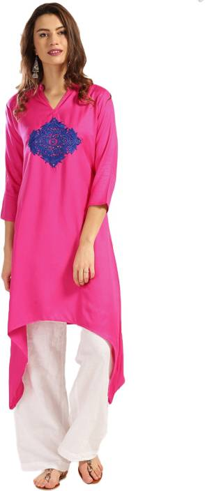 Anouk Self Design Women's A-line Kurta