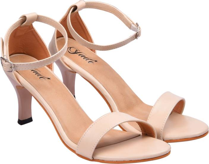 Jade Women Beige Heels - Buy Jade Women Beige Heels Online at Best ...