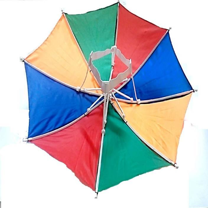 8a45033da05a1 DCS Rainbow Colour Foldable kids Umbrella Hat Fashion(53x30cm)(Small)  Umbrella (Multicolor)