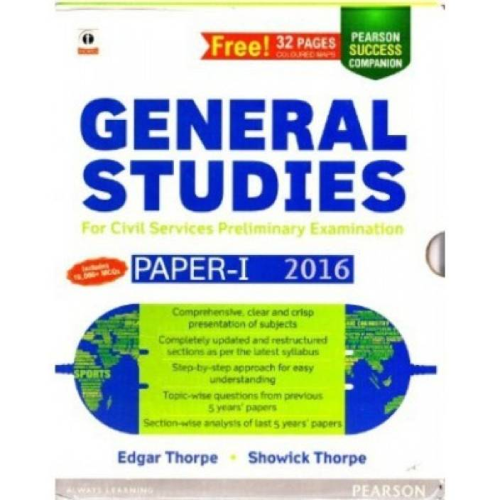 General Studies Paper 1 for Civil Services Preliminary Examination 2016