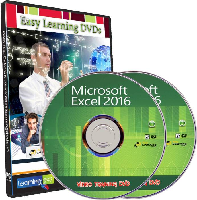 Easylearning Advanced Microsoft Excel 2016 From Beginner 12 Course Tutorial Video Training on 2 DVDs