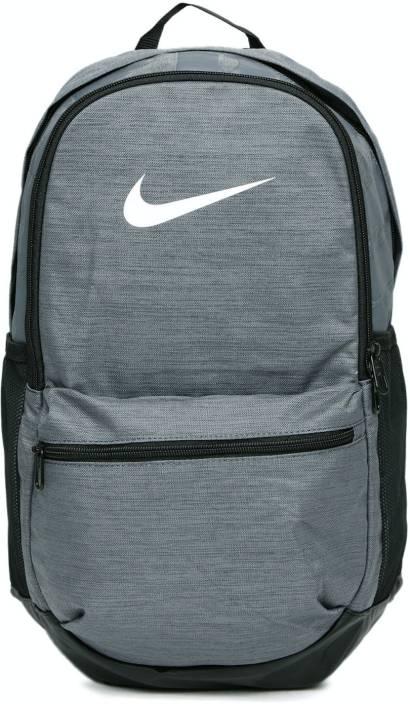 Nike Printed Brasilia Medium Training 24 L Laptop Backpack Dark Grey ... 8cafb568be3f2
