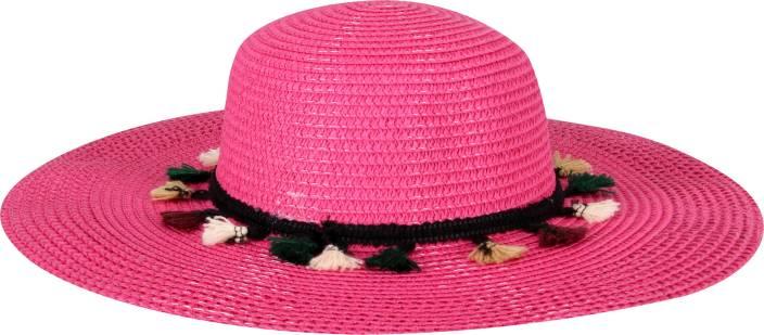 FabSeasons Long Brim Beige Beach and Sun Hat for Women   Girls Cap - Buy  FabSeasons Long Brim Beige Beach and Sun Hat for Women   Girls Cap Online  at Best ... f4c81176803