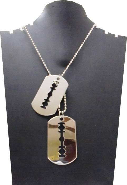 Target retail designer silver color blade locket with chain necklace target retail designer silver color blade locket with chain necklace metal pendant altavistaventures Gallery