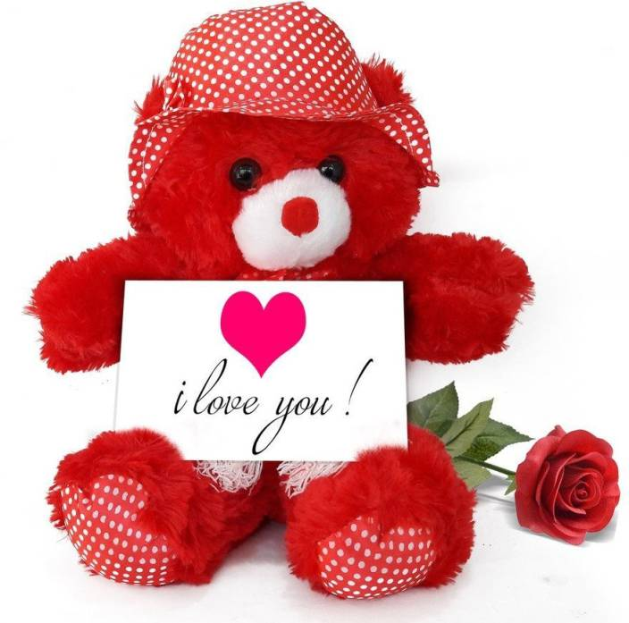 Tied Ribbons Birthday Gifts For Girlfriend Teddy Bear With Greeting Card And Red Rose Soft Toy Gift Set Price In India