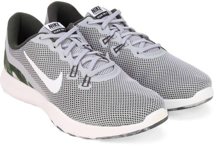 0b23a58ef45f Nike W NIKE FLEX TRAINER 7 PRINT Training   Gym Shoes For Women (White)