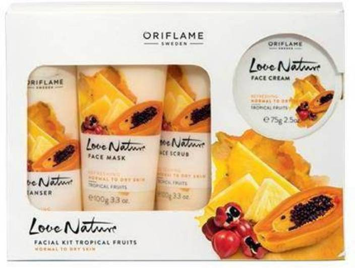 Oriflame Sweden Love Nature Facial Kit Tropical fruits 450 ml