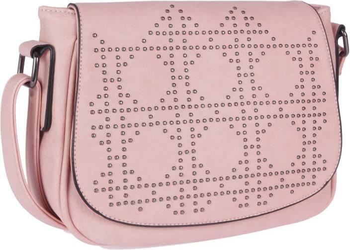 c9f3272273 Fur Jaden Women Casual Pink PU Sling Bag Pink - Price in India ...