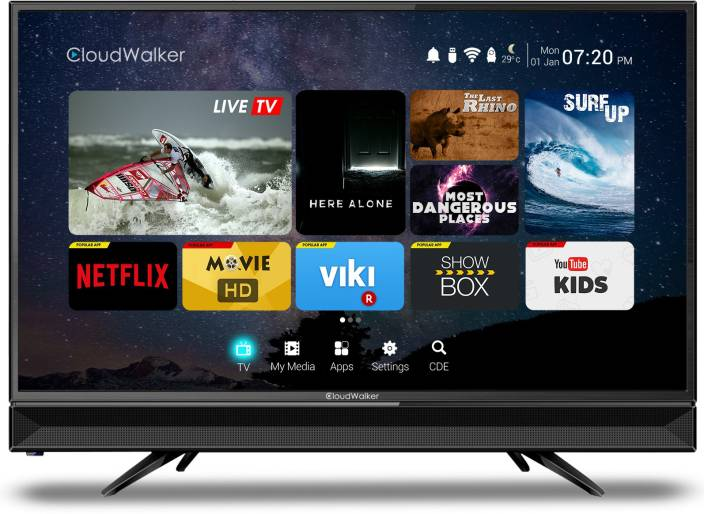 cloudwalker 80cm 32 inch hd ready led smart tv online at best prices in india. Black Bedroom Furniture Sets. Home Design Ideas