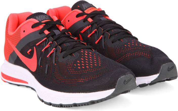 new arrival b764a 14255 Nike ZOOM WINFLO 2 Running Shoes For Men (Black, Red)