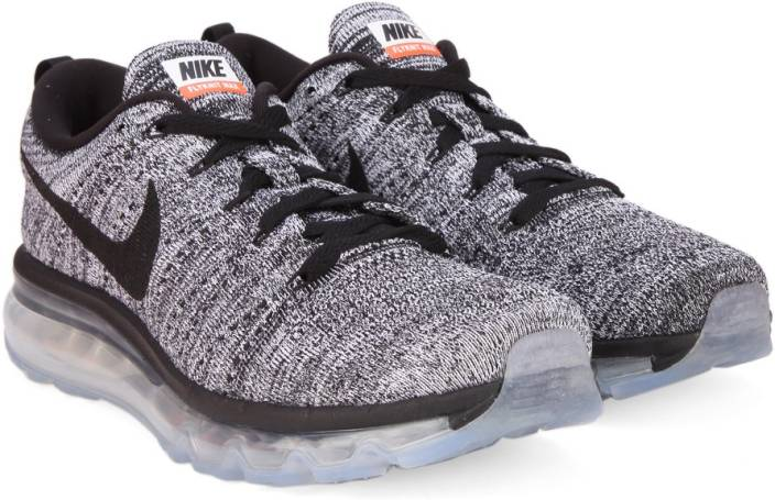 size 40 65017 ffd5c Nike FLYKNIT AIR MAX Running Shoes For Men (Black, White)