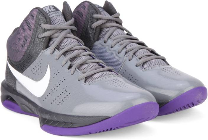 4f74284f532 Nike AIR VISI PRO VI Basketball Shoes For Men - Buy GREY PURPLE ...