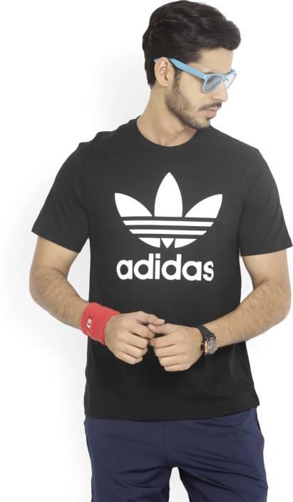 76dabf90 ADIDAS ORIGINALS Printed Men's Round Neck Black T-Shirt - Buy BLACK/WHITE  ADIDAS ORIGINALS Printed Men's Round Neck Black T-Shirt Online at Best  Prices in ...