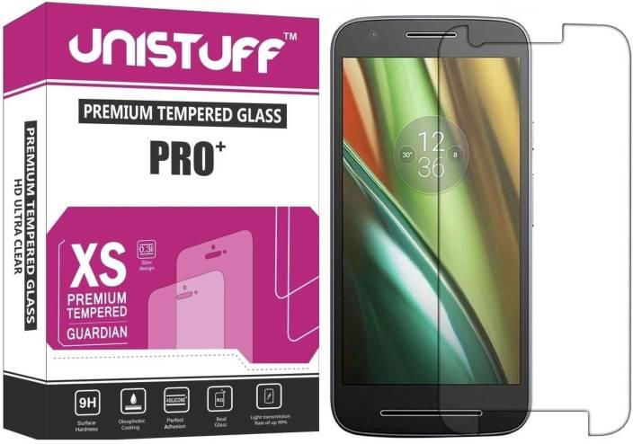 Unistuff Tempered Glass Guard for Motorola Moto E3 Power