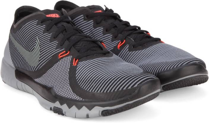 cheap for discount 0cc73 46172 Nike FREE TRAINER 3.0 V4 Training Shoes For Men (Black, Grey)