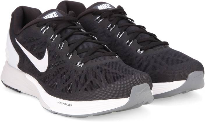 268c90fe31bc Nike LUNARGLIDE 6 Running Shoes For Men - Buy BLACK WHITE PURE ...