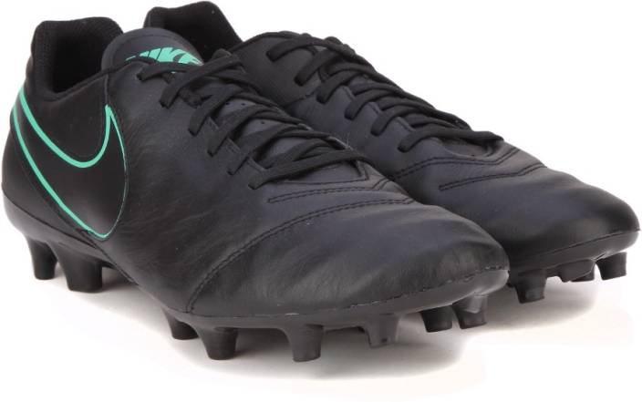 quality design 482ef f71e4 Nike TIEMPO GENIO II LEATHER FG Football Shoes For Men (Black)
