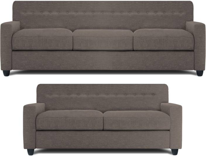 Dolphin Solitaire Fabric 3 2 Grey Sofa Set Price In
